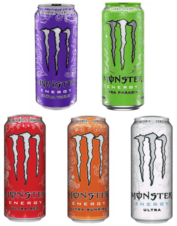 MONSTER - ENERGY ULTRA DRINKS 500ml